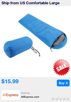 Ship from US Comfortable Large Single Sleeping Bag Warm Soft Adult Waterproof Camping Hiking Lazy Bag Sleeping Beach Bed * Pub Date: 18:21 Apr 10 2017