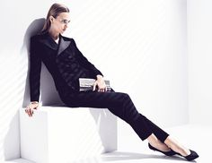 Eclipse: Alexandra Tikerpuu By Takay For Madame Air France April/May 2014 Corporate Chic, Mode Editorials, Contemporary Photographers, Ralph Lauren Collection, Img Models, Air France, Dress Codes, Suits For Women, Editorial Fashion