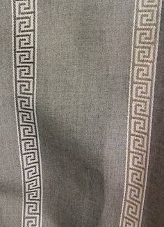 Lovely Titan Smoke   Sunbrella Stripe Jacquard Greek Key Fabric. RECOMMENDED USES:  Drapery / Marine
