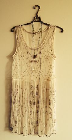 Beaded Gatsby Flapper Dress with sheer mesh bohemian by BohoAngels, $120.00