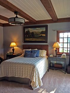 Timber Frame Homes - Homestead Timber Frames - Handcrafted Timber Frames - Timber Frame Bedroom