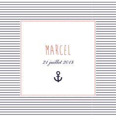 Faire-part de naissance Petit matelot (triptyque) by Mr & Mrs Clynk pour www.fairepartnaissance.fr #birth #announcement #marinière