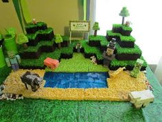 Life of a Vertically Challenged Mom! : Minecraft Cake