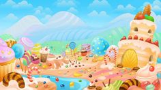 sweets animation background - Google Search