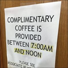 Here serving capacity is extensive, but hours of actual availability are limited for All-You-Can-Drink Coffee, 'til Noon. Drink Coffee, All You Can, Children's Books, Close Up, Retail, Canning, Store, Children Books, Books For Kids