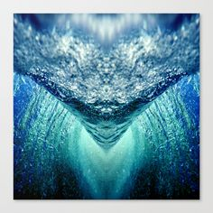 Buy ocean vortex Canvas Print by haroulita. Worldwide shipping available at Society6.com. Just one of millions of high quality products available.