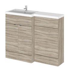 Good mm x mm Modern Drijfhout effect Staand Wastafel u Toiletmeubel binatie Linker Uitvoering
