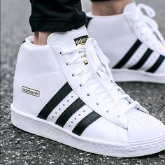 Adidas Superstar Up Women's Size 9 EUC Adidas Superstar Up Women's Size 9. It has a hidden heel and is super cute. I've only used it a few times so it's still in excellent condition. Price is firm. Adidas Shoes Sneakers