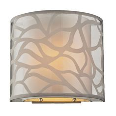 Autumn Breeze Brushed Nickel One Light Wall Sconce $96.