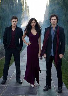 Stephan Salvatore, Elena Gilbert, Damon Salvatore!