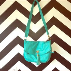 Turquoise Bag With Tassel