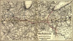 A journey into the history of information design and cartography Rail Train, Vintage Maps, Library Of Congress, Cartography, Data Visualization, Geography, Indiana, Westerns, Ohio