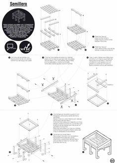 Planos para construir un semillero con palets de madera reciclados