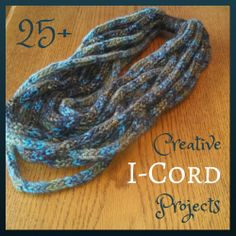 What do you do with all of that i-cord? Strickprojekte 25 Creative Projects Using I-Cord Spool Knitting, Loom Knitting Projects, Loom Knitting Patterns, Yarn Projects, Crochet Projects, Scarf Patterns, Lucet, Finger Knitting, Hand Knitting