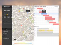 Scheduling Dashboard #ui #map #chart
