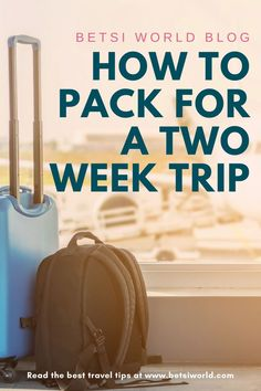 Packing for Two Weeks - How to Pack Efficiently & Effectively by Betsi World Blog | Love to travel but hate to pack? These packing tips will have you packing and on the move! Save time packing with these quick travel packing hacks for the busy traveler. For more travel tips, packing tips, luxury travel, lifestyle tips, couples travel, travel destinations, travel hacks, and bucket list ideas read BETSIWORLD.COM #travel #packing #timesaving #travelhack #destination #luggage Smart Packing, Packing Tips For Vacation, Packing Hacks, Enjoy Your Vacation, Travel Hacks, Travel Packing, Travel Guides, Packing Lists, Travel Couple