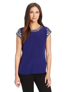 Rebecca Taylor Women's Short Sleeve Tee with Embellishment, Violet, 6 Rebecca Taylor http://www.amazon.com/dp/B00DIFZ6WQ/ref=cm_sw_r_pi_dp_Qwlbub1WYQ9YJ
