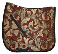 Rust Fleur Chenille/Brocade Baroque Dressage Saddle Pad $39.95. Many other colors to chooses from. Visit us at http://www.equestrianhomeaccessories.com