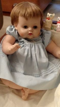 Vintage-AE-BABY-DOLL-Kitten-Competitor-BEAUTIFUL-LARGE-BABY