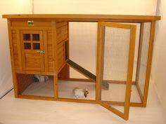 Coop/Hutch Plans Free | Right size rabbit hutch | Ideas 4 Pets this would be so cute for cinnabun. much prettier than the one I made