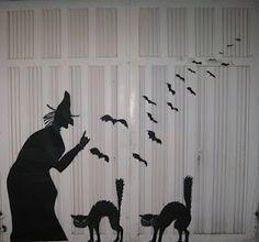 Decoracion para la puerta del garaje - Halloween 2010