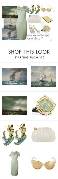 """""""And she walked right out of the Sea!"""" by blackdoor ❤ liked on Polyvore featuring Armenta, Judith Leiber, Charlotte Olympia, Givenchy, Linda Farrow and Goldgenie"""