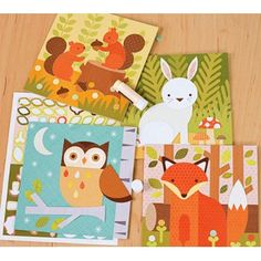 My Petit Collage Kit Forest Animals - everything is included for a great project, no scrissors needed.