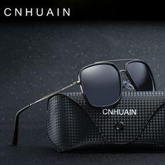 0fb297ddf10cd CNHUAIN Brand Designer Men s Sunglasses Polarized Sunglasses For Women Men  Driving Glasses Square Vintage Oculos Male female