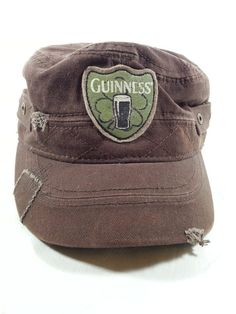 Guinness Beer Distressed Brown Cadet Hat Cap 1759 Stitched Dublin Ireland  #Guinness #Cadet