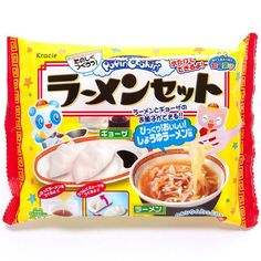 DIY candy kit Popin' Cookin' Ramen Kracie from Japan Japanese Candy, Japanese Sweets, Japanese Food, Cute Things From Japan, Japanese Packaging, Asian Snacks, Happy Kitchen, Edible Food, Modes4u