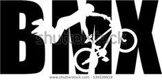 Vind stockafbeeldingen in HD voor BMX woord met silhouet uitsparing en miljoenen andere rechtenvrije stockfoto's, illustraties en vectoren in de Shutterstock-collectie.  Elke dag worden duizenden nieuwe afbeeldingen van hoge kwaliteit toegevoegd. Bmx Stickers, Montain Bike, Qhd Wallpaper, Silhouette Portrait, Motocross, Logos, T Shirt, Stencil, Frozen