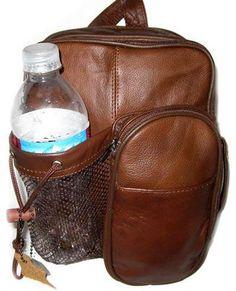 Genuine Leather Brown Backpack Crossbody Bag 40-이싸이트 싸고 괜찮아보이는거 많음