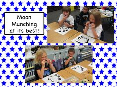 As we finished our unit on Sun, Moon, and Stars we spent some time Moon Munching.  We used Oreos to create the phases of the moon.  It wa...