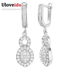 Find More Drop Earrings Information about 2016 Silver Jewelry CZ Diamond Jewelry Earrings for Women Fashion Brincos Long Earrings Boucle d'oreille Jewelery Vintage R227,High Quality cz clip earrings,China earring findings Suppliers, Cheap earring rhinestone from D&C Fashion Jewelry Buy to Get a Free Gift on Aliexpress.com