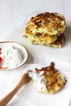 Zucchini Ricotta Fritters  - use almond flour rather than white flour for low carb