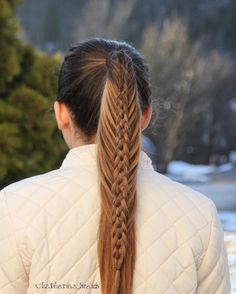Mermaid braid ponytail
