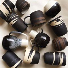 "clayobjekts: ""Helen Levi "" Pottery Mugs, Ceramic Pottery, Pottery Art, Ceramic Bowls, Ceramic Art, Earthenware, Stoneware, Cerámica Ideas, Keramik Vase"