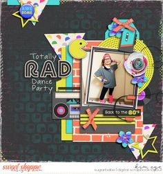 Digital Scrapbook Layout using When I Was a Kid by Blagovesta Gosheva (found at Sweet Shoppe Designs) and Oh My Stacks templates by Miss Fish Templates (found at Gotta Pixel)