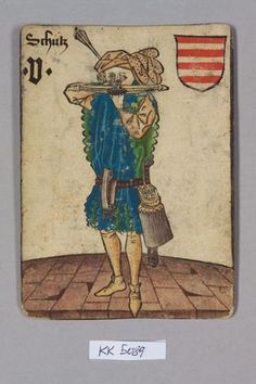 5, House of Arpad: Schütze (Shot) Aiming straight at the holder of the card.  Eerie.