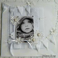 Stunning White on White Page...with black & white photo.