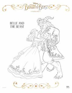 Free Beauty And The Beast Coloring Pages Sheets Disney Birthday Party