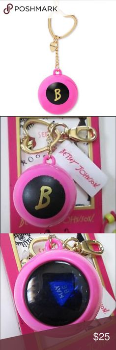 Betsey Johnson Magic 8 Ball Keychain Betsey Johnson Magic 8 Ball Keychain. Brand new with tags. Betsey Johnson Accessories