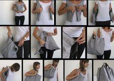 T-Shirt Transformation into a Handbag.
