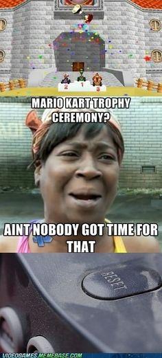 mario kart 64, funny mario kart, ain't nobody got time for that