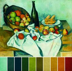 color palettes inspired by great painters - Pesquisa Google