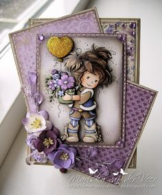 Sending you a little smile :): Note holder with Amy by Sylvia Zet