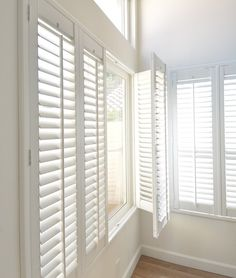 Bi fold plantation shutters can be installed with or for Smith and noble shades