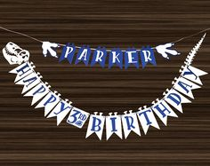 Dinosaur Birthday Banner - Dino Party - Dino Birthday - Dinosaur Party - Customized -  Personalized Banner