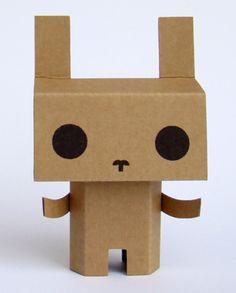 Félix the cardboard bunny by fragilefreaks on Etsy, $6.70