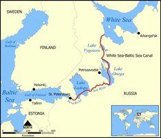 White Sea Canal map - Lake Ladoga